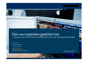 Den europæiske gældskrise - primo