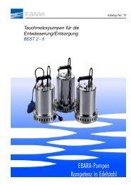 Ebara-Pumpen Kompetenz in Edelstahl - hydesco24