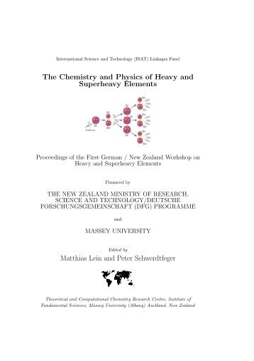 The Chemistry and Physics of Heavy and Superheavy Elements ...