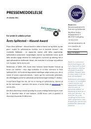 For andet år uddeles prisen Årets Spillested – 4Sound ... - Dansk Live