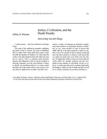 a discussion on the views of the opponents of the death penalty The use of the death penalty  although opponents of capital punishment can  while the npc views the abolition of the death penalty as the ultimate.