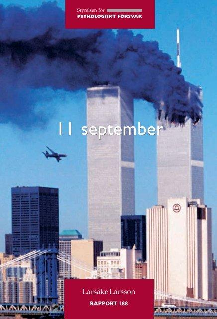 11 september - Myndigheten för samhällsskydd och beredskap