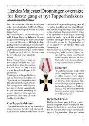 Tapperhedskorset - Dronningens Livregiments Soldaterforening