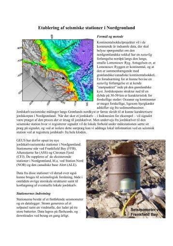 Etablering af seismiske stationer i Nordgrønland
