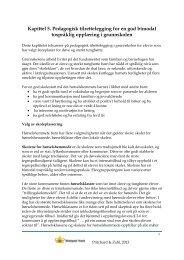 Kapittel 5. Pedagogisk tilrettelegging for en god bimodal ... - Statped