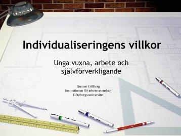 Individualiseringens villkor-Gillberg-26.5. 2011.pdf - Hanaholmen