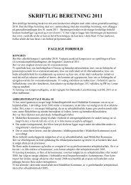 skriftlig beretning 2010 - Vends Herreds Lærerkreds