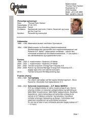 Download CV for Thomas Palm Hansen - HN Miljøudvikling