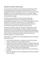 Beretning d. 29 maj 2012 – Morsø Forsyning. År 2011 blev året hvor ...