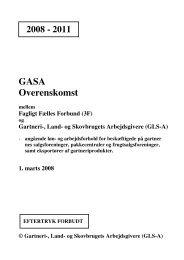 GASA salg pakke frugt export - GLS-A