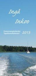 Evenemangskalender Tapahtumakalenteri - Ingå Kommun