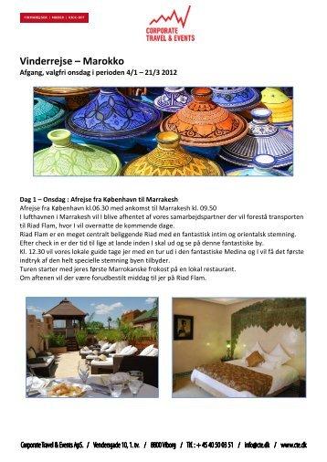 Vinderrejse – Marokko - CTE - Corporate Travel & Events