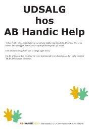 UDSALG • UDSALG • UDSALG • UDSALG så ... - AB Handic Help