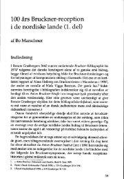 100 års Bruckner-reception i de nordiske lande (1. del) - dansk ...