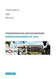frederikshavn boligforening beboerundersøgelse 2013