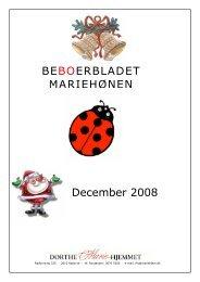 December 2008 - Mariehjemmene