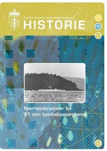 FFIs-historie-nr12.indd - Forsvarets forskningsinstitutt