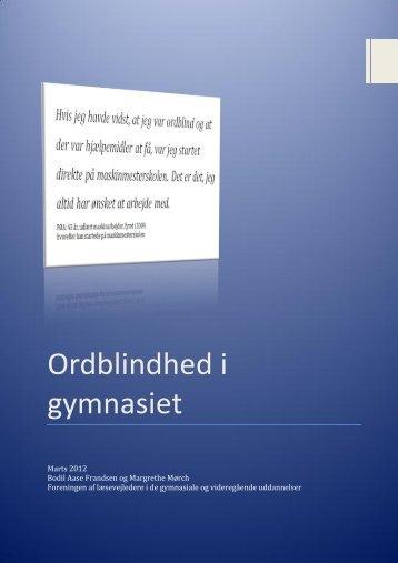 Ordblindhed i gymnasiet - Ord12
