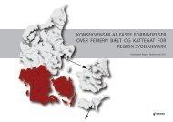 konsekvenser af faste forbindelser over femern bælt og kattegat for ...