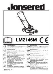 OM, LM2146 M, 2004-06, EN, DE, FR, NL, NO, FI ... - Jonsered.com