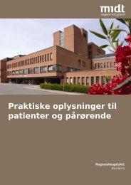 Praktisk information til patienter og pårørende (pdf)