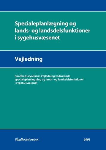 Specialeplanlægning og lands - Sundhedsstyrelsen