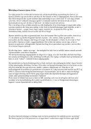 Udvikling af barnets hjerne 0-8 år. En vigtig pointe for overhovedet ...