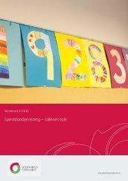 Temanotat 2/2010 Spesialundervisning - tallenes tale