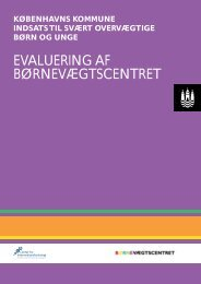 evaluering af børnevægtscentret - Center for Interventionsforskning