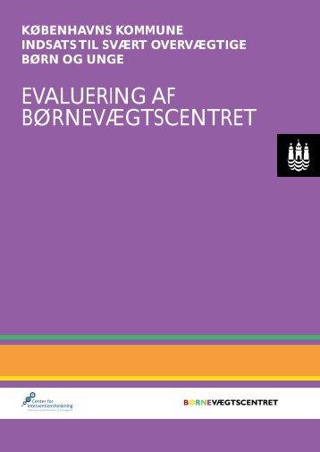 evaluering af børnevægtscentret - Center for Interventionsforskning