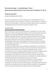 Lokalafdelingen i Århus Bestyrelsens årsberetning for året 2012 ...