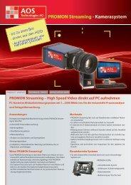 PROMON Streaming - Kamerasystem - AOS Technologies AG