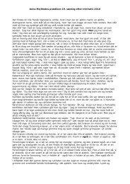 Download udskrift af Anna Mejlhedes prædiken som PDF-fil - DR
