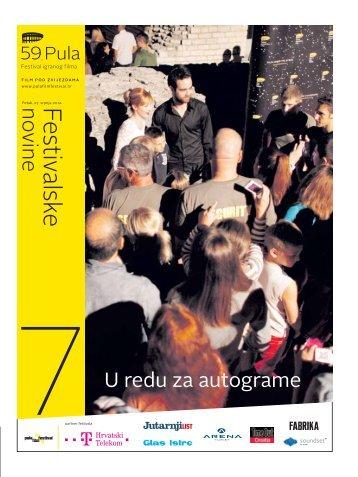 Sedmi broj - Pula Film Festival