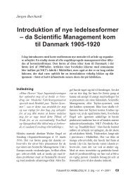 Introduktion af nye ledelsesformer – da Scientific ... - Jørgen Burchardt