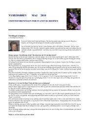 Nyhedsbrev maj 2010 - Støtteforeningen for Svanevig Hospice