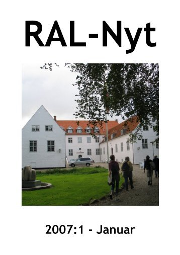 RAL Nyt 2007:1 - Januar - Ribe Amts Lokalarkiver