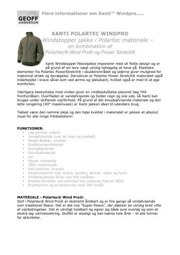 Windstopper jakke i Polartec materiale – - Normark