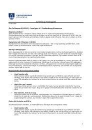 1 Sundhed og Forebyggelse Om Influenza A(H1N1)– hvad gør vi i ...