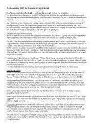 Årsberetning 2009 for Lumby Menighedsråd - Lumby sogn