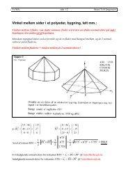 Vinkel mellem sider i et polyeder, bygning, telt mm.: - Steen Toft ...
