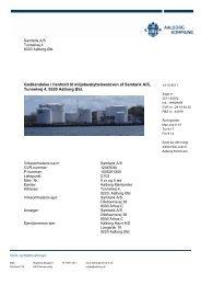 Miljøgodkendelse af Samtank A/S - Aalborg Kommune