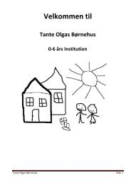 Velkomstfolder Tante Olgas Børnehus