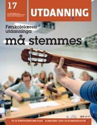 Utdanning nummer 17 2010 - Utdanningsnytt.no