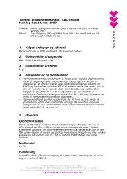 1. Valg af ordstyrer og referent 2. Godkendelse af dagsorden 3 ...