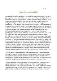 Formandens Beretning - Velkommen til Grundejerforeningen Birkely