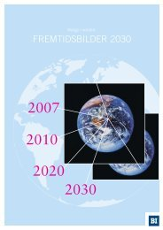 NHO-Rapport Fremtidsbilder 2030 - Handelshøyskolen BI