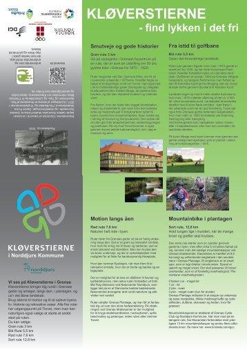 Se kort over og læs om Kløverstierne i Grenaa - Friluftsrådet