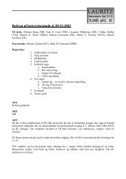 Referat fra bestyrelsesmøde den 09. december 2003 - Lauritz ...