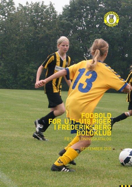 Holdningskatalog Piger U11-U18 - Frederiksberg Boldklub